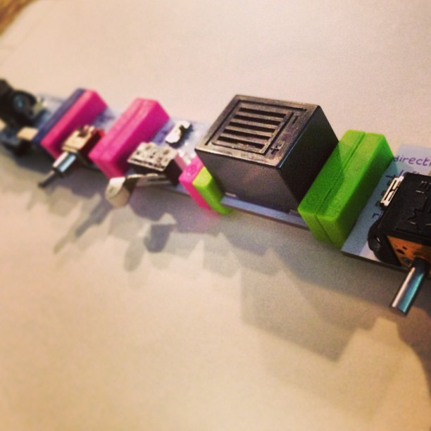 Morse Code Machine, made with LittleBits